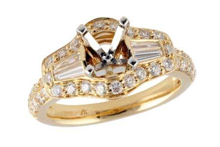 14KT Gold Semi-Mount Engagement Ring - A033-22556_Y