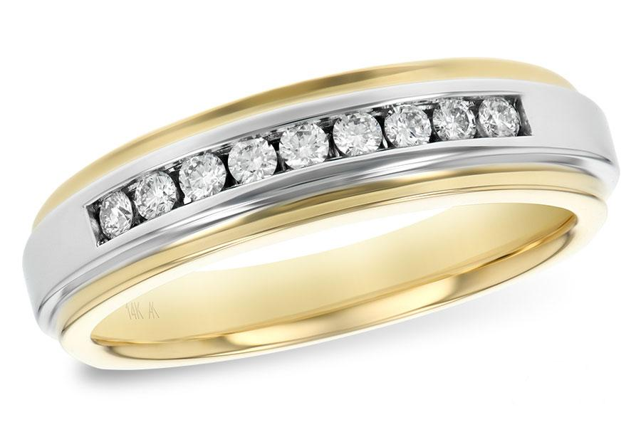 14KT Gold Mens Wedding Ring - A120-50729_Y