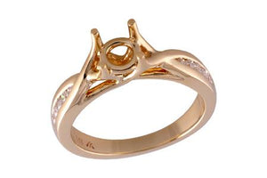 14KT Gold Semi-Mount Engagement Ring - A212-30783_Y