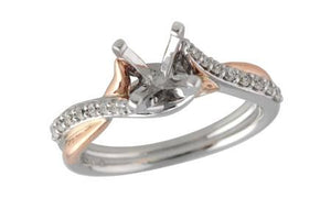14KT Gold Semi-Mount Engagement Ring - A214-17129_TR