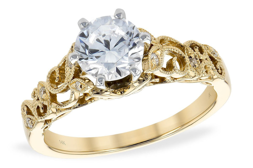 14KT Gold Semi-Mount Engagement Ring - A217-73474_Y