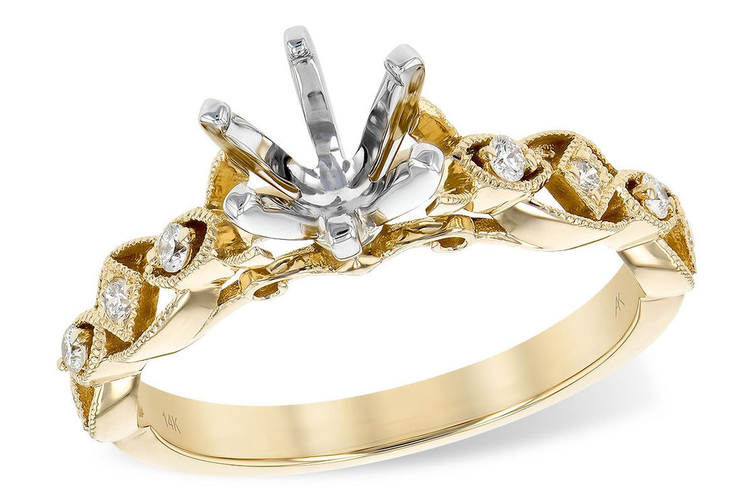14KT Gold Semi-Mount Engagement Ring - A217-78992_Y