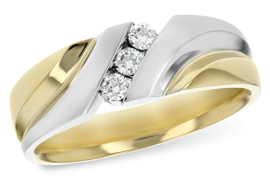 14KT Gold Mens Wedding Ring - B120-49865_Y
