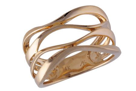 14KT Gold Ladies Wedding Ring - B212-31656_Y