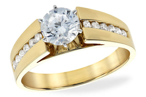 14KT Gold Semi-Mount Engagement Ring - B213-26201_Y