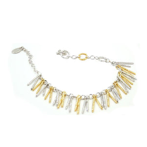 sterling silver yellow gold plated jacqueline bracelet br1056