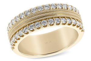 14KT Gold Ladies Wedding Ring - C124-16228_Y