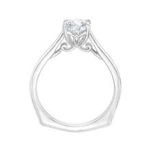 Load image into Gallery viewer, 14K White Gold Round Cut Diamond Solitaire Engagement Ring (Semi Mount)