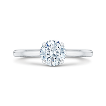 Load image into Gallery viewer, CA0038E-W Bridal Jewelry Carizza White Gold Round Diamond Solitaire Engagement Rings