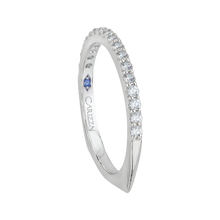 Load image into Gallery viewer, Round Diamond Half Eternity Wedding Band with Euro Shank In 14K White Gold