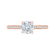 Load image into Gallery viewer, CA0040E-37P Bridal Jewelry Carizza Rose Gold Round Diamond Solitaire Engagement Rings