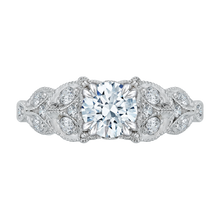 Load image into Gallery viewer, CA0043E-37W Bridal Jewelry Carizza White Gold Round Diamond Engagement Rings
