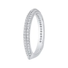 Load image into Gallery viewer, 14K White Gold Euro Shank Diamond Wedding Band