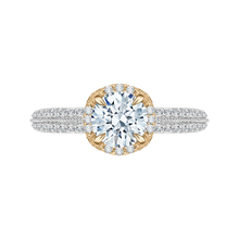 Load image into Gallery viewer, CA0045E-37WY Bridal Jewelry Carizza White Gold Rose Gold Yellow Gold Round Diamond Engagement Rings