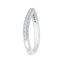 Load image into Gallery viewer, 14K White Gold Round Diamond Half Eternity Wedding Band with Euro Shank