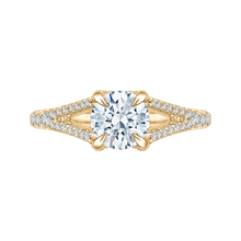 Load image into Gallery viewer, CA0048E-37 Bridal Jewelry Carizza Yellow Gold Round Diamond Engagement Rings