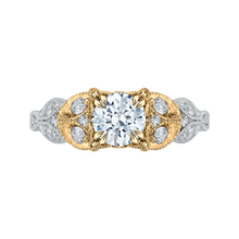 Load image into Gallery viewer, CA0049E-37WY Bridal Jewelry Carizza White Gold Rose Gold Yellow Gold Round Diamond Engagement Rings