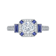 Load image into Gallery viewer, CA0064E-S37W Bridal Jewelry Carizza White Gold Round Diamond Engagement Rings