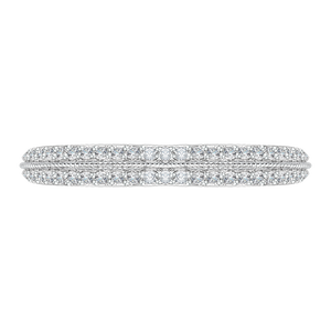 CA0066B-37W Bridal Jewelry Carizza White Gold Diamond Wedding Bands