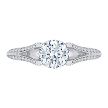 Load image into Gallery viewer, CA0066E-37W Bridal Jewelry Carizza White Gold Round Diamond Engagement Rings