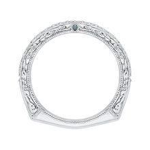 Load image into Gallery viewer, 14K White Gold Euro Shank Round Diamond Half Eternity Wedding Band