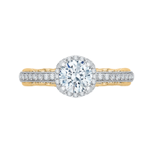 Load image into Gallery viewer, CA0072E-37WY Bridal Jewelry Carizza White Gold Rose Gold Yellow Gold Round Diamond Engagement Rings