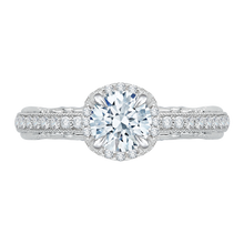 Load image into Gallery viewer, CA0072E-37W Bridal Jewelry Carizza White Gold Round Diamond Engagement Rings