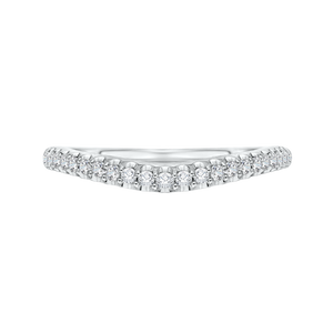 CA0093B-37W Bridal Jewelry Carizza White Gold Round Diamond Wedding Bands