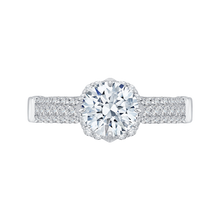 Load image into Gallery viewer, CA0099E-37W Bridal Jewelry Carizza White Gold Round Diamond Engagement Rings