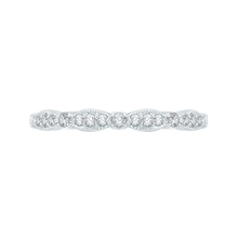 Load image into Gallery viewer, CA0104B-37W Bridal Jewelry Carizza White Gold Round Diamond Wedding Bands