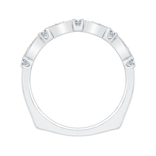 Load image into Gallery viewer, Round Diamond Wedding Band with Euro Shank In 14K White Gold