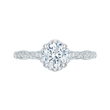 Load image into Gallery viewer, CA0104E-37W Bridal Jewelry Carizza White Gold Round Diamond Engagement Rings