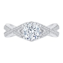 Load image into Gallery viewer, CA0105E-37W Bridal Jewelry Carizza White Gold Round Diamond Engagement Rings