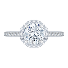 Load image into Gallery viewer, CA0115E-37W-1.50 Bridal Jewelry Carizza White Gold Round Diamond Halo Engagement Rings