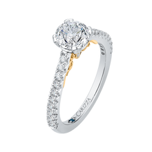 Load image into Gallery viewer, Round Cut Diamond Engagement Ring In 14K Two Tone Gold (Semi Mount)