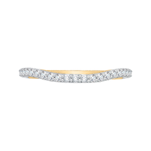 Load image into Gallery viewer, CA0123B-37WY Bridal Jewelry Carizza White Gold Rose Gold Yellow Gold Round Diamond Wedding Bands