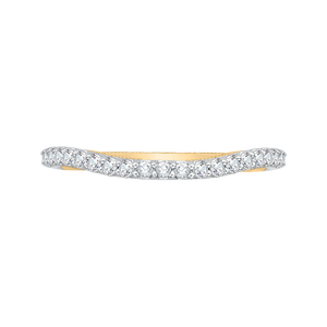 CA0123B-37WY Bridal Jewelry Carizza White Gold Rose Gold Yellow Gold Round Diamond Wedding Bands