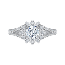 Load image into Gallery viewer, CA0129E-37W Bridal Jewelry Carizza White Gold Round Diamond Halo Engagement Rings