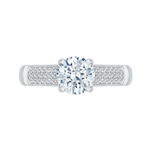 Load image into Gallery viewer, CA0130E-37W Bridal Jewelry Carizza White Gold Round Diamond Engagement Rings