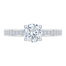 Load image into Gallery viewer, CA0132EH-37W Bridal Jewelry Carizza White Gold Round Diamond Engagement Rings