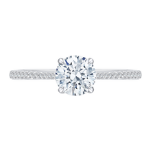 Load image into Gallery viewer, CA0139EH-37W Bridal Jewelry Carizza White Gold Round Diamond Engagement Rings