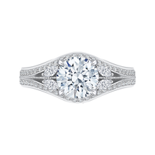 Load image into Gallery viewer, CA0145EH-37W-1.50 Bridal Jewelry Carizza White Gold Round Diamond Engagement Rings