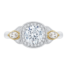 Load image into Gallery viewer, CA0147E-37WY Bridal Jewelry Carizza White Gold Rose Gold Yellow Gold Round Diamond Halo Engagement Rings