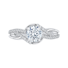 Load image into Gallery viewer, CA0149EH-37W Bridal Jewelry Carizza White Gold Round Diamond Engagement Rings