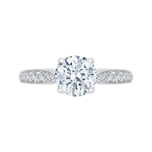 Load image into Gallery viewer, CA0152EH-37W-1.50 Bridal Jewelry Carizza White Gold Round Diamond Engagement Rings