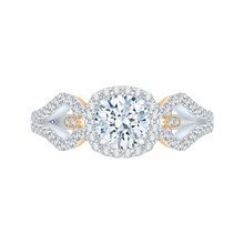 Load image into Gallery viewer, CA0155EH-37WY Bridal Jewelry Carizza White Gold Rose Gold Yellow Gold Round Diamond Halo Engagement Rings