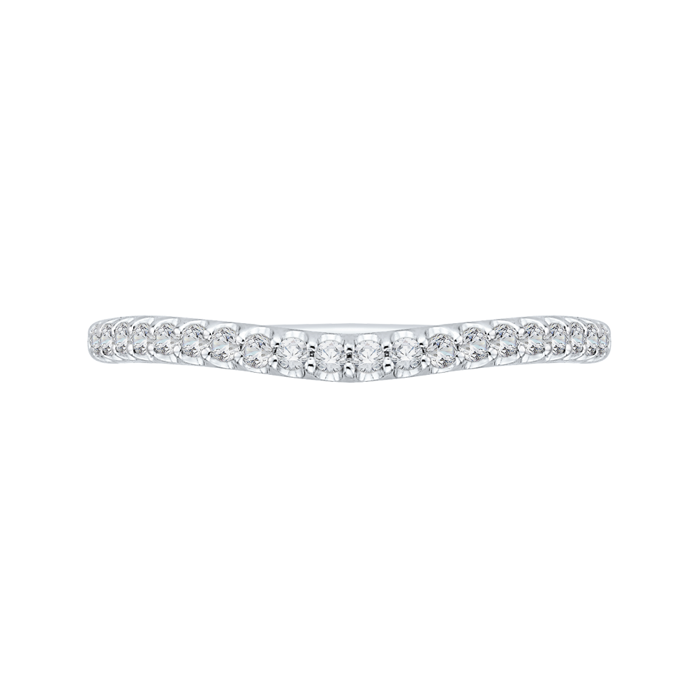 CA0156BH-37W-1.50 Bridal Jewelry Carizza White Gold Round Diamond Wedding Bands