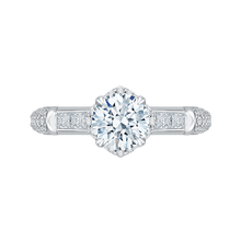 Load image into Gallery viewer, CA0157EQ-37W Bridal Jewelry Carizza White Gold Round Diamond Engagement Rings