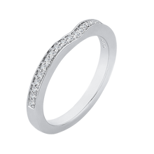Load image into Gallery viewer, 14K White Gold Half Eternity Diamond Wedding Band