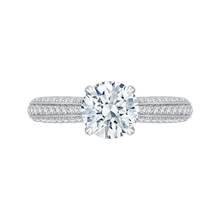 Load image into Gallery viewer, CA0168EH-37W-1.50 Bridal Jewelry Carizza White Gold Round Diamond Engagement Rings